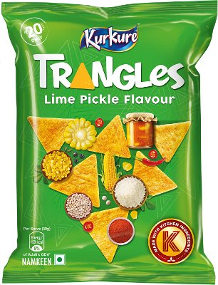 Kurkure- Triangles Lime Pickle Flavour