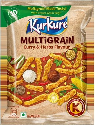 Kurkure - Multigrain Curry & Herbs Flavor