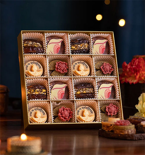 Laumiere Dried Fruits and Nuts Box - Diwali Collection - Square