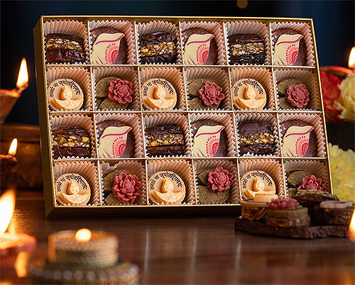 Laumiere Dried Fruits and Nuts Box - Diwali Collection - Rectangular