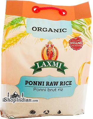 Laxmi Organic Ponni Raw Rice - 10 lbs