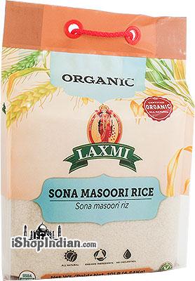 Laxmi Organic Sona Masoori Rice White - 10 lbs