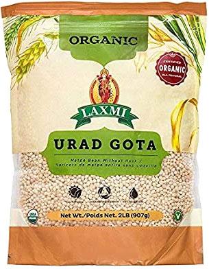 Laxmi Organic Urad Gota - Matpe Beans without Husk - 2 lbs