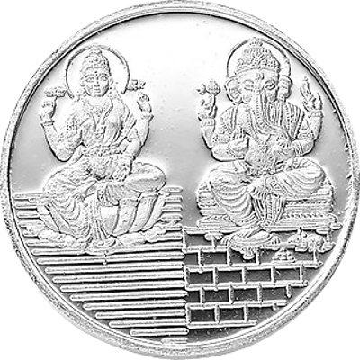 Laxmi & Ganesh .999 Silver Coin - 25 gms