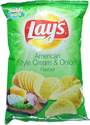 Lay's Cream & Onion Flavour Potato Chips
