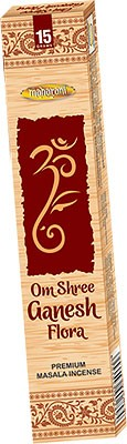 Maharani Om Shree Ganesh Flora Premium Masala Incense - 15 Sticks