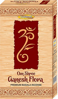Maharani Om Shree Ganesh Flora Premium Masala Incense - 90 Sticks