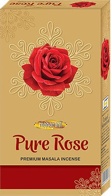 Maharani Pure Rose Premium Masala Incense - 90 Sticks