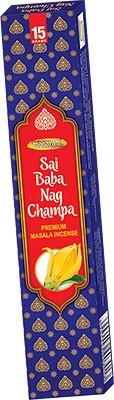 Maharani Sai Baba Nag Champa Premium Masala Incense - 15 Sticks