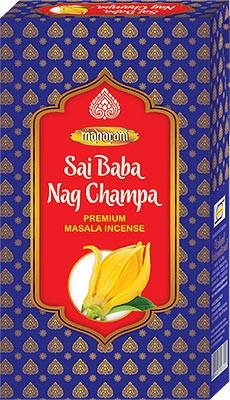 Maharani Sai Baba Nag Champa Premium Masala Incense - 90 Sticks
