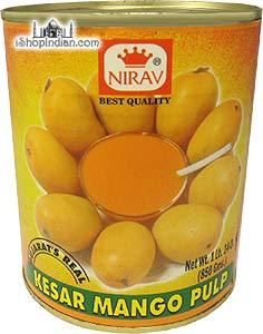 Nirav Kesar Mango Pulp (Mango Puree)
