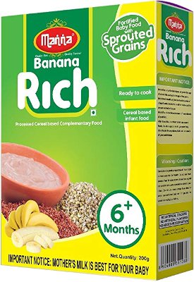 Manna Banana Rich Fortified Baby Food with Sprouted Grains