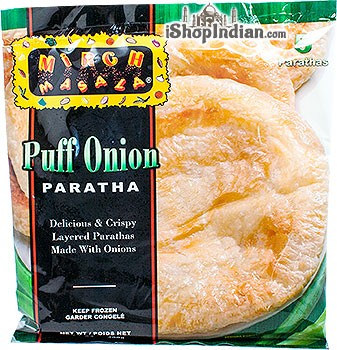Mirch Masala Puff Onion Paratha - 5 pcs (FROZEN)