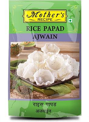 Mother's Recipe Rice Papad - Ajwain - Mini