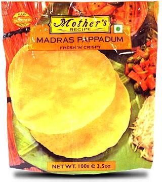 Mother's Recipe Madras Pappadums (Appalam)