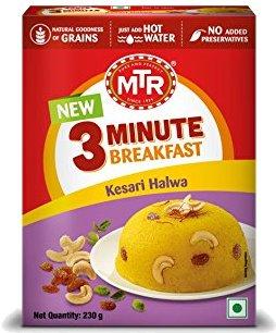 MTR Instant Kesari Halwa - 3 Minute Breakfast - 8.1 oz