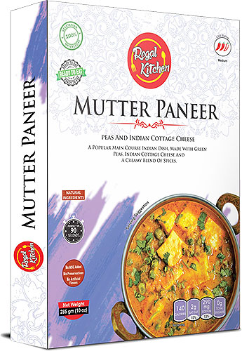 Regal Kitchen Mutter Paneer (Ready-to-Eat) - BUY 2 GET 1 FREE!