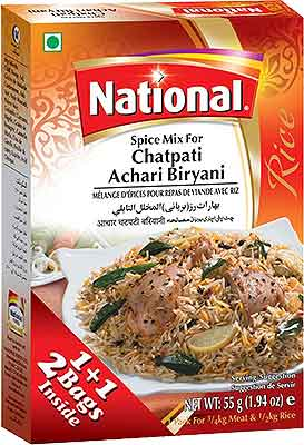 National Chatpati Achari Biryani Spice Mix