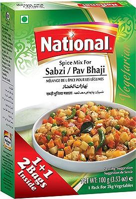 National Sabzi / Pav Bhaji Mix