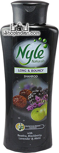 Nyle Naturals - Long & Bouncy Shampoo with Reetha, Blackberry, Lavender & Amla