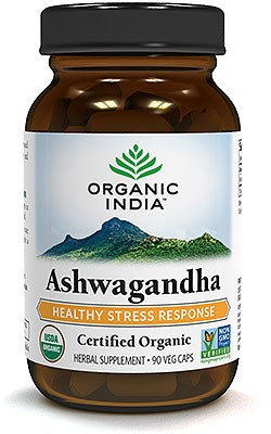 Organic India Organic Ashwagandha - 90 Veg Caps