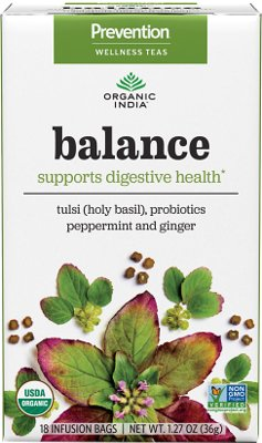 Organic India Prevention Teas - Balance (Supports Digestive Health)