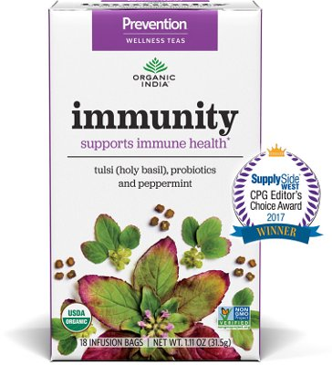 Organic India Prevention Teas - Immunity (Supports Immune Health)
