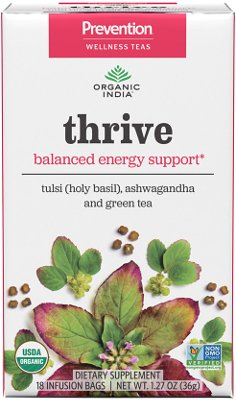 Organic India Prevention Teas - Thrive (Balanced Energy Support)