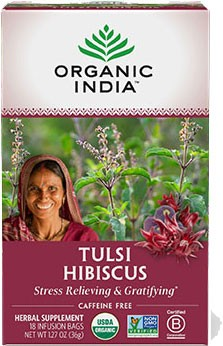 Organic India Tulsi Hibiscus (Stress Relieving & Gratifying)