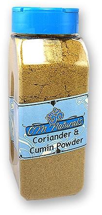 Om Naturals Coriander-Cumin Powder (Dhana Jeera) - 9 Oz Jar