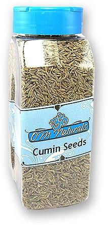 Om Naturals Cumin Seeds - 9 oz jar