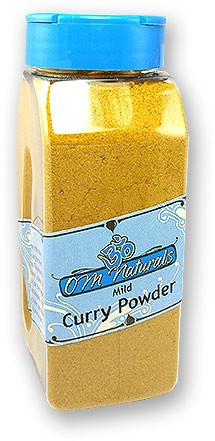 Om Naturals Curry Powder - Mild - 10.5 oz jar