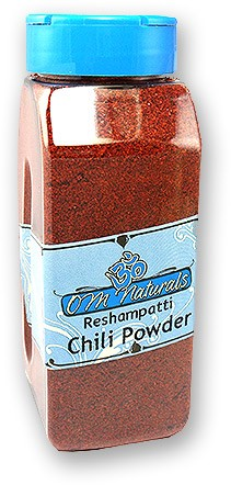 Om Naturals Chili Powder - Reshampatti Hot - 10.5 oz jar