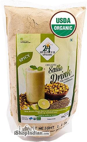 24 Mantra Organic Sattu Drink Mix - Spicy