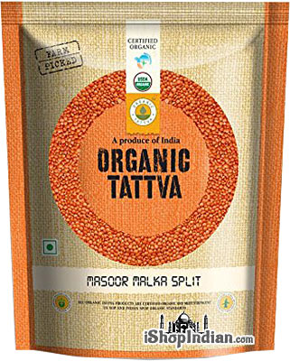 Organic Tattva Organic Masoor Dal (Red Lentil) - 2 lbs