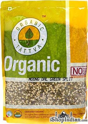 Organic Tattva Organic Moong Green Split (Green Gram Split)