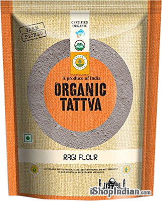 Organic Tattva Organic Ragi (Finger Millet) Flour - 1 lb