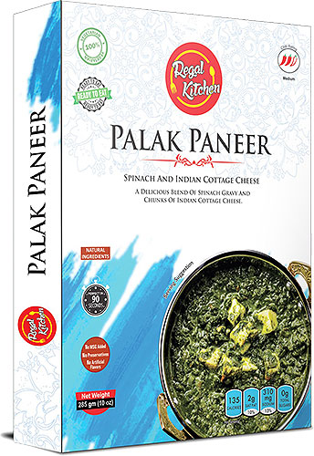 Regal Kitchen Palak Paneer (Ready-to-Eat) - BUY 2 GET 1 FREE!
