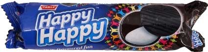 Parle Happy Happy Twin-Flavored Cream Biscuits (Chocolate & Vanilla) - 4 Pack