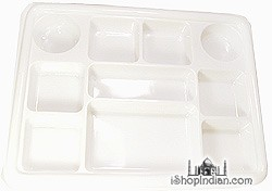 Party Plate (thali) - Square - 25 pack