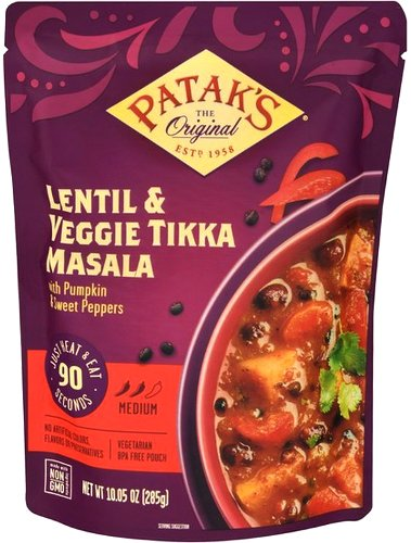 Patak's Lentil & Veggie Tikka Masala (Ready-to-Eat)
