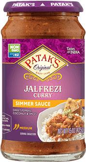 Patak's Jalfrezi Curry Simmer Sauce (Sweet Peppers & Coconut - Medium)