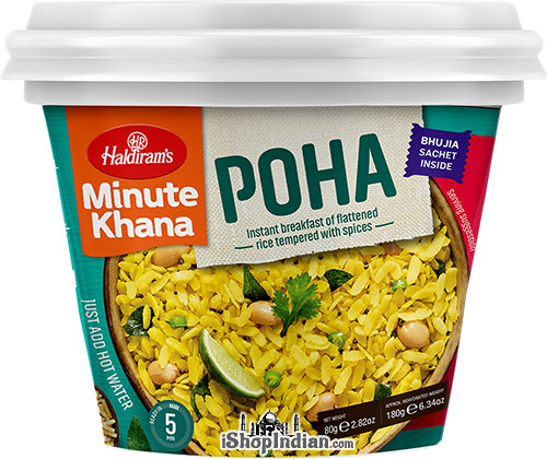 Haldiram's Instant Poha - Instant Breakfast of Flattened Rice Tempered with Spices