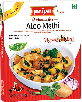 Priya Aloo Methi (Ready-to-Eat)