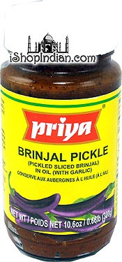 Priya Brinjal (Eggplant) Pickle without Garlic