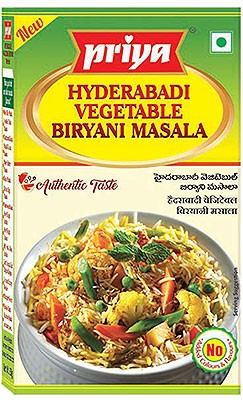 Priya Hyderabadi Vegetable Biryani Masala - BUY 2 GET 1 FREE!