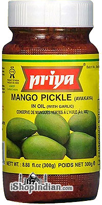 Priya Mango Pickle (Avakaya) with Garlic