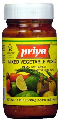Priya Mixed Vegetable Pickle with Garlic