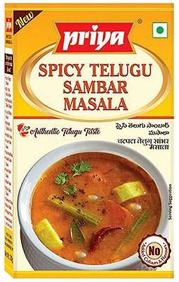 Priya Spicy Telugu Sambar Masala - BUY 2 GET 1 FREE!