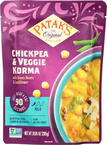 Patak's Chickpea & Veggie Korma (Ready-to-Eat)